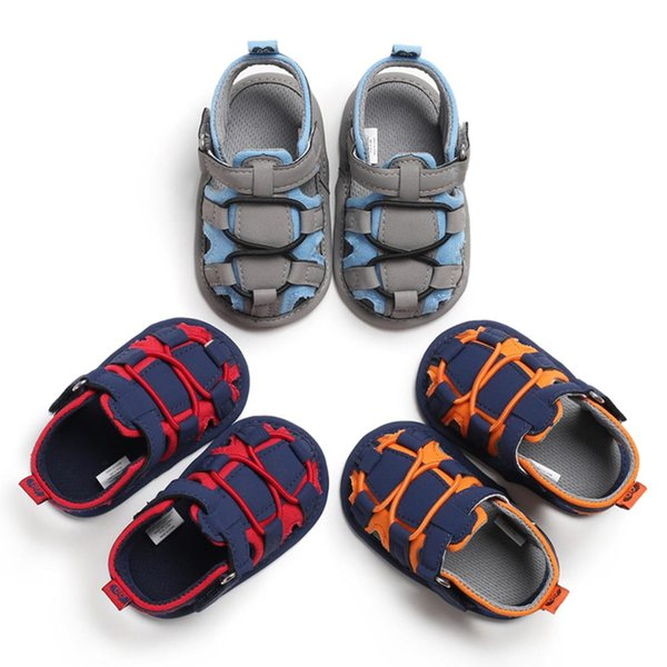 Infant Baby Boy Girl Soft Sole Crib Shoes Toddler Kid Summer Sandals Shoes 0-18M