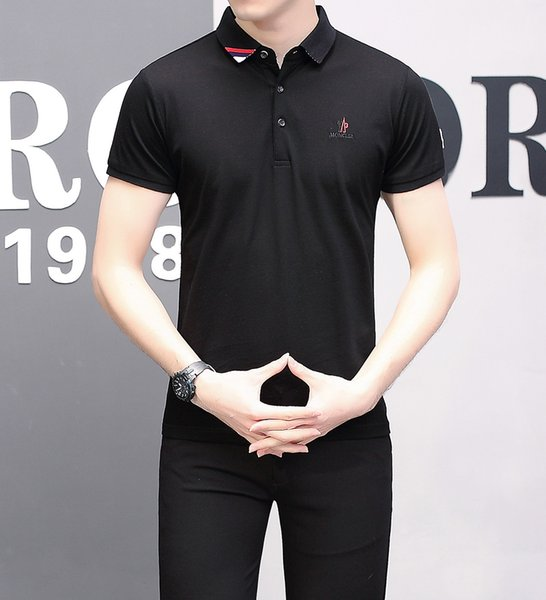 Cotton Short Sleeve Summer New Product Pure Cotton Lapel Half Sleeve T T-shirt Affairs Man Thin T T-shirt Goods In Stock