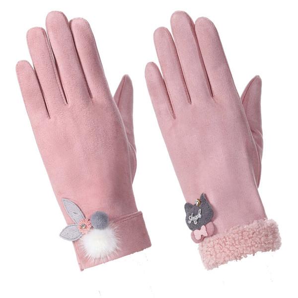 Новые зимние теплые лыжные перчатки женская мода открытый ветрозащитный холодный сенсорный экран перчатки