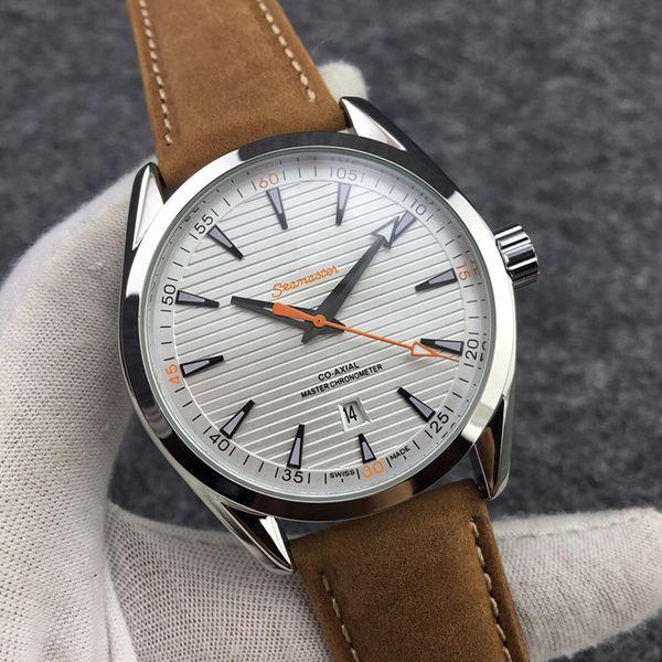 Лучший бренд Sea Master мужские часы Reloj de hombre Автоматы Часы мужские кожаные Специальный дизайн мужской моды платье часы лучший подарок