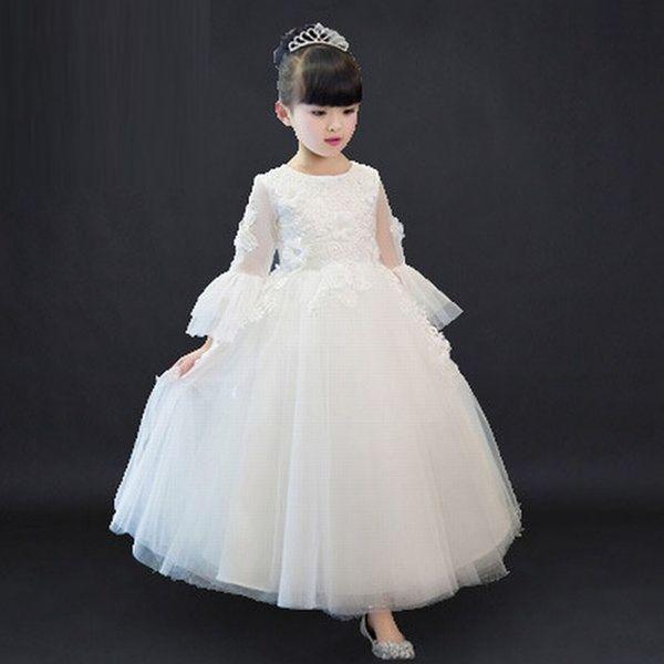New Kids Flower Girl Dress Charming Princess Girls Party Prom Birthday Wedding Beautiful Children Dress ST110