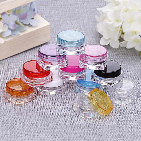 Bunte 3g 5g kosmetische behälter platz cremetopf probenglas Make-Up Gesichtscreme Lippenbalsam Container Flasche kosmetische flasche