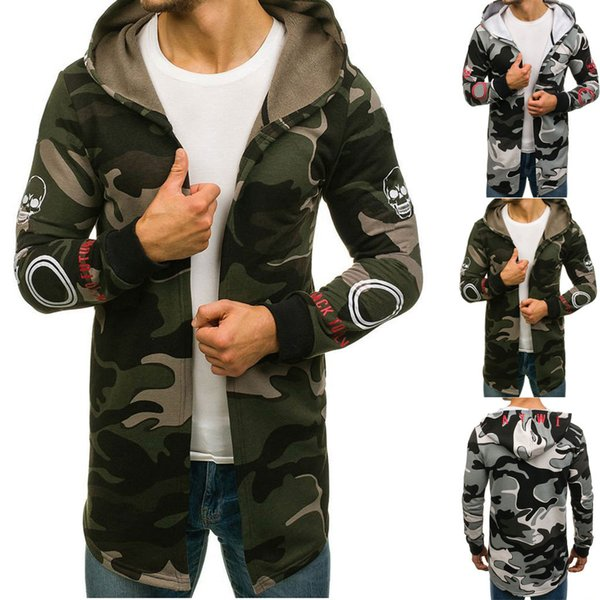 Men Camouflage Hooded Oversize Outwear Coats With Pockets Trench Coat Jacket Cardigan Long Sleeve Outwear Blouse Dropshiping 15