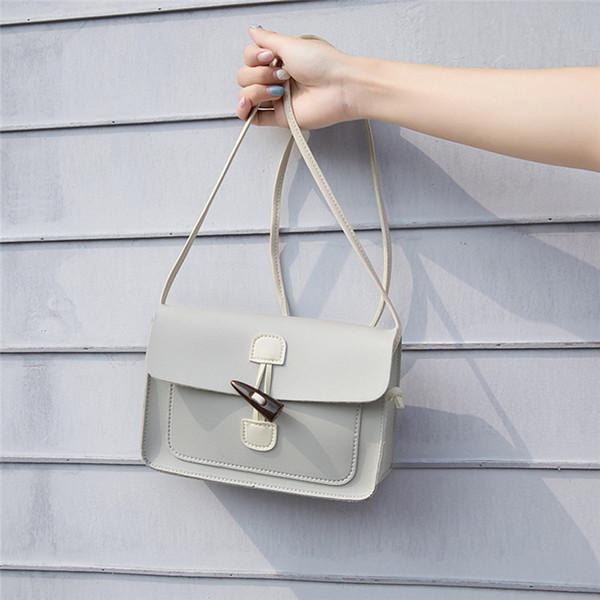 Новая мода женщин сплошной цвет милый плечо сумки дамы PU кожа мини Crossbody сумки свободного покроя сумка #в