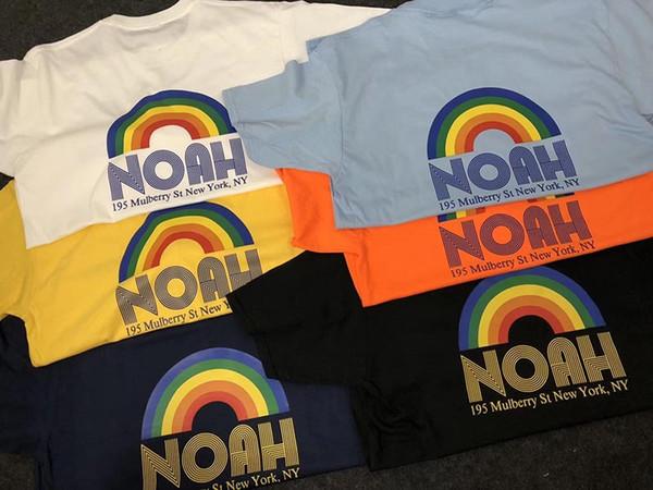 Maglietta a maniche corte con scollo a V, manica lunga girocollo stampata estiva NOAH T-shirt manica lunga da uomo