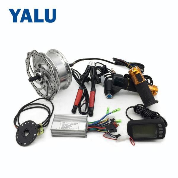Kit de conversión de ruedas 24V36V 250W eléctrica delantera de la bicicleta cubo con pantalla LCD de la E-bici delantera controlador de motor sin escobillas Hub