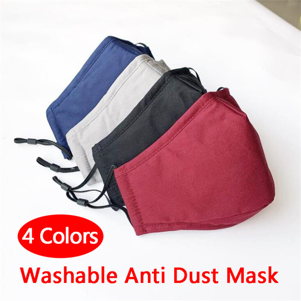 top popular Hot Sale Washable Anti Dust Mask Windproof Mouth-muffle Bacteria Proof Cotton PM2.5 Mask Mouth Anti-fog Haze Keep Warm Face Care Masks 2021