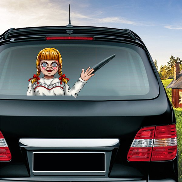 Halloween Car Horrível Sticker Recados Auto Home 3D Sticker Mural Decor Decal removível Terror
