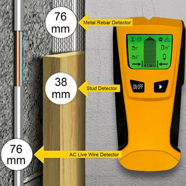 Metal Detector Wood Stud Finder Electronic Wire Sensor Cable Scanner For Detect Wall Studs/ Metal Pipes/ Electrical Wires