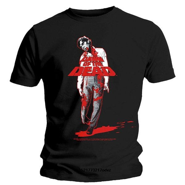 T-shirt da uomo Fashion s Dawn Of The Dead Fly Boy T-shirt nera novità tshirt donna divertente