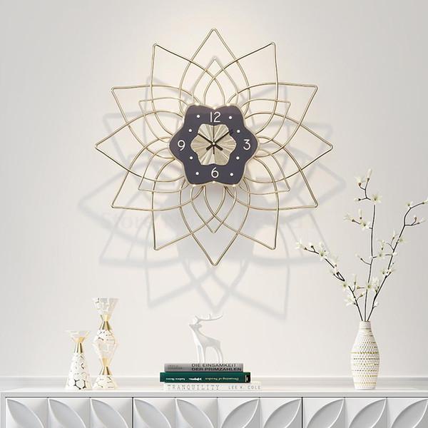 Relógio de parede nórdico sala de estar relógio de moda criativa personalidade simples casa pendurado mesa de quartzo art 20 polegadas