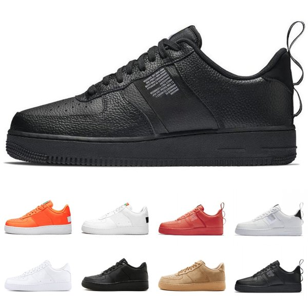 2019 New Utility Black White Volt High Low Do It Pack Orange Olive Canvas Hombres Zapatillas de running Dunk One Zapatillas de deporte de mujer Zapatos de plataforma
