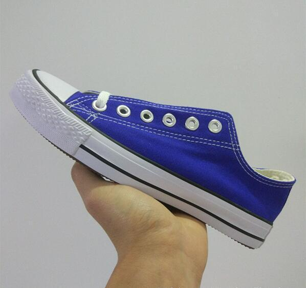 Zapatillas deportivas de lona para hombre, mujer, blanco, rojo, amarillo, azul, rosa, estilo bajo, lona clásica, diseñador deportivo informal, zapatillas para hombre, talla 35-44
