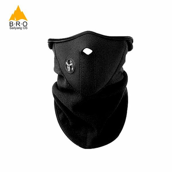 Brand Winter Warmer Windproof Neck Protector Face Mask For Sport Fleece Half Helmet Hiking Ski Snowboarding Bicycle Cycling Mask