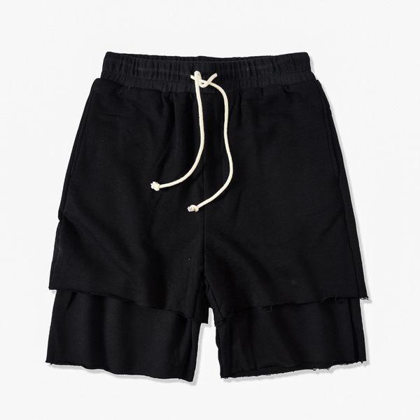 Men Pure Color Panelled Shorts Sports Male Running Pants Summer Casual Drawstring Apparel Fashion Designer Loose Short Pants
