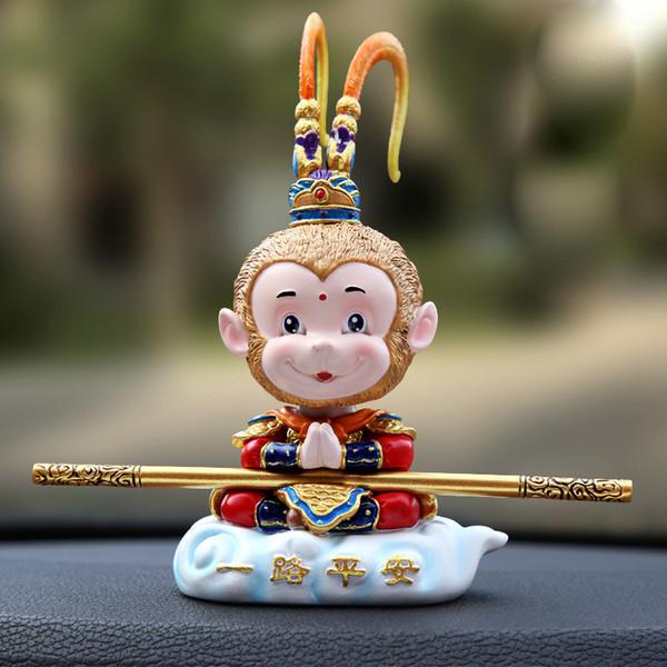 Обезьяны автомобилей куклы головки встряхивания игрушки для автомобиля Авто украшения интерьера Смешные украшения Креатив частей Руководство Cute автомобилей Bobbleheads