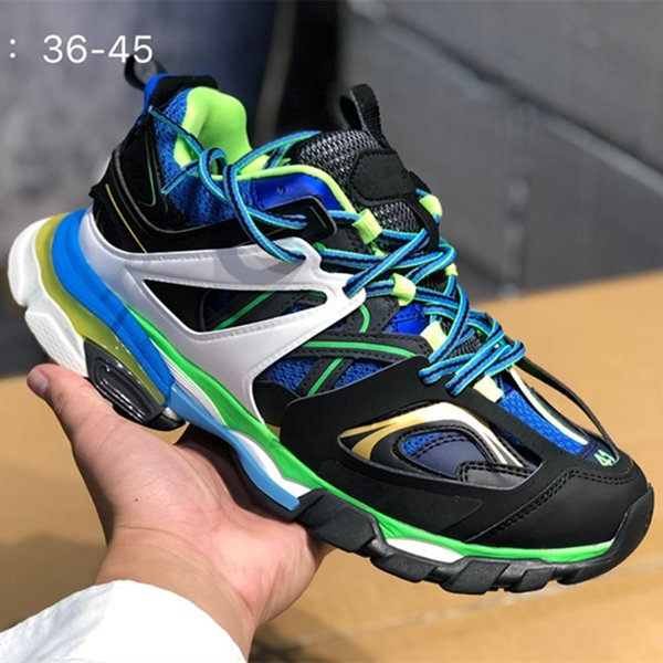 Lanzamiento 3.0 Tess S Paris Track Hombres Gomma Maille Negro para Mujeres Triple S Clunky Sneaker Casual Shoes Hot Authentic Designer Shoe 4sd