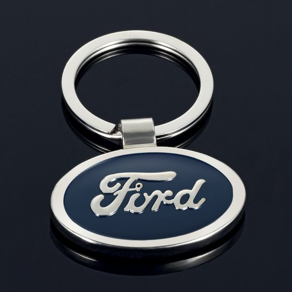 Creative gifts Ford auto car double-sided logo car metal keychain advertising waist hanging key ring chain ring pendant TJP-152
