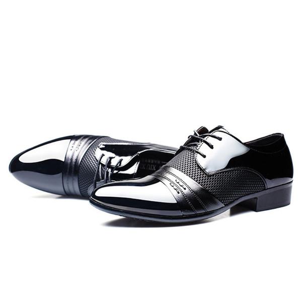 Men casual shoes Men Dress Shoes Mens Business Flat Shoe Black Brown Breathable Low Top Mens Formal Office Shoe HH-278