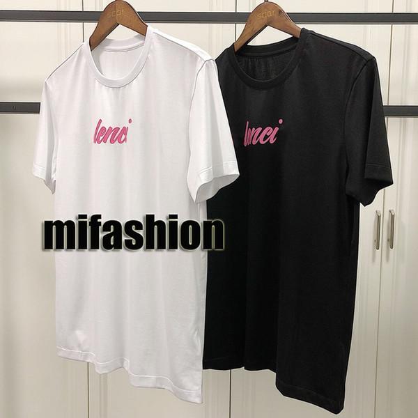 19ss Luxus Europa Frankreich Paris Puff Print T-shirt Mode Männer Frauen T-shirt Kurzarm Baumwolle Lässig T