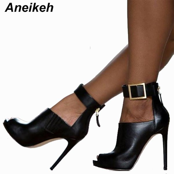 wholesale Gladiator Women Pumps Ladies Sexy Buckle Strap Roman High Heels Open Toe Sandals Party Wedding Shoes Size 41 42