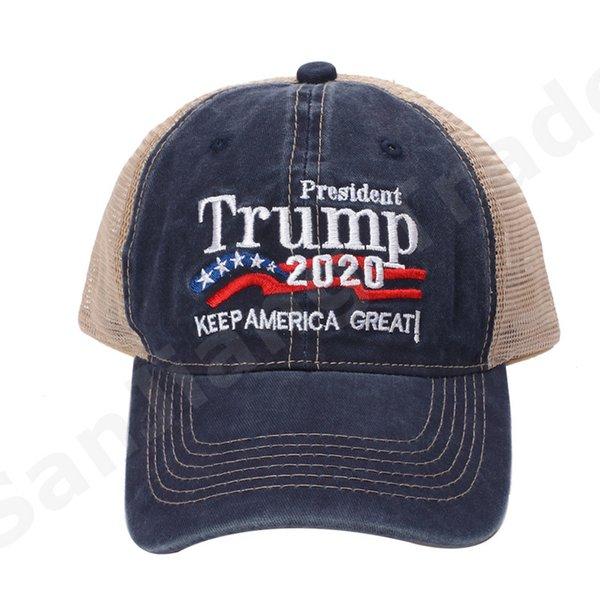 best selling Patchwork Trump Vote Mesh Baseball Cap Keep America Great 2020 Breathe Summer Mesh Sports Snapback Ball Caps Unisex Beach Ball Hat A6406