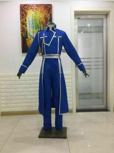 Roy Mustang Cosplay Fullmetal Alchemist Costume Men Military Uniform Halloween