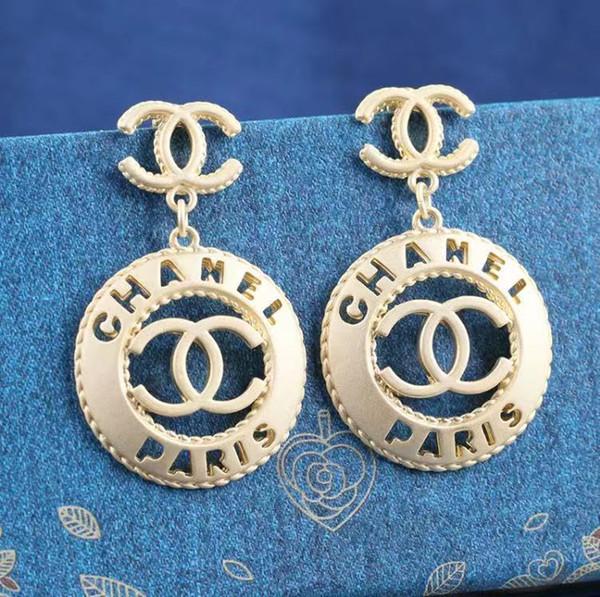 Letras cuelgan gota oro plata perla pendiente oro plata pendientes para mujer boda fiesta joya