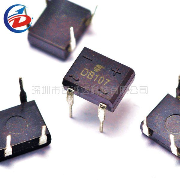 50Pcs/Pack DB107 1A 1000V Bridge Stack Authentic Copper Foot Rectifier Diode