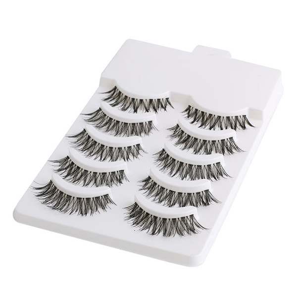 5 Pairs Natural Soft Eye Lashes Makeup Handmade Thick Fake False Eyelashes Extension Voluminous Makeup Beauty Tools