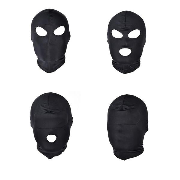 Divertido jogo de cabeça Cabeça de Máscara de Sexo Preto Sexy Máscara de Escravo Boca Aberta SM Escravidão Sex Toys Kinky para a Mulher Homem Casais