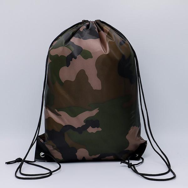 best selling Outdoor Bags Camouflage Drawstring Bags 210D Waterproof Drawstring Backpack Camo Gym Bag School Sport Outdoor Shoe Bag