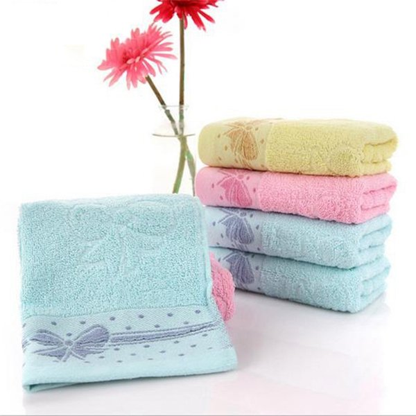 Il nuovo asciugamano molle morbido dei capelli della mano del cotone di Bowknot per il viso decorativo del bagno del fronte del bagno del fronte decorativo degli adulti