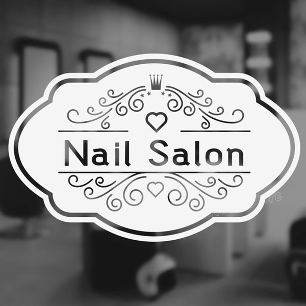 Nail Bar Salon Quote Wall Decal for Beauty Salon Manicure Nail Salon Wall Sofa Background Decor Stickers Pedicure Posters