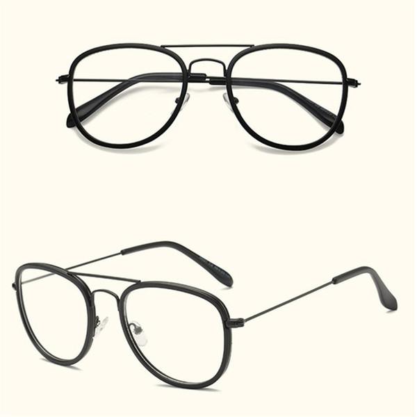 Женщина Ретро Большие Очки Прозрачные Очки Объектива Прозрачные Металлические Очки Оправа Очки Очки для Студентов