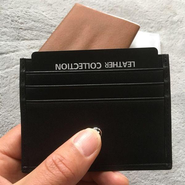 Классический черный мужчины держатель кредитной карты мини-кошелек бизнес кожа тонкий Банк ID Card Case Звезда дизайнер монета карман сумка маленькие кошельки