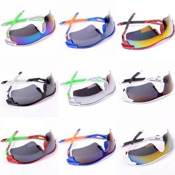 9 cores coloridas óculos de sol de verão esportes óculos de proteção unisex bicicleta ciclismo de vidro deslumbrante cores ao ar livre eyewear cca11512 30 pcs
