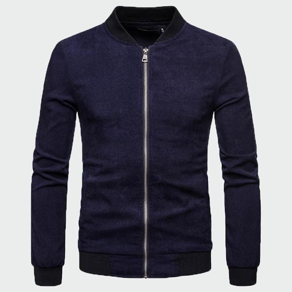 2019 Новый весна осень мужчины прохладный куртка мужская мода пальто и куртки классический удобный стенд воротник с длинным рукавом куртка ML278