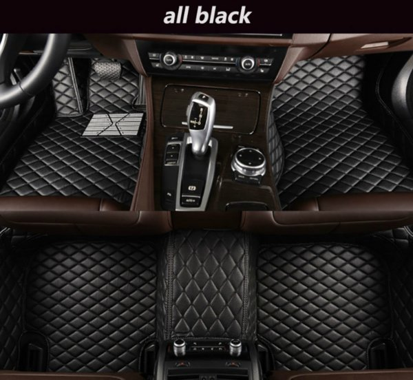 Volvo V40 2013-2019 araba mat lüks su geçirmez deri giyim araba mat çevrili
