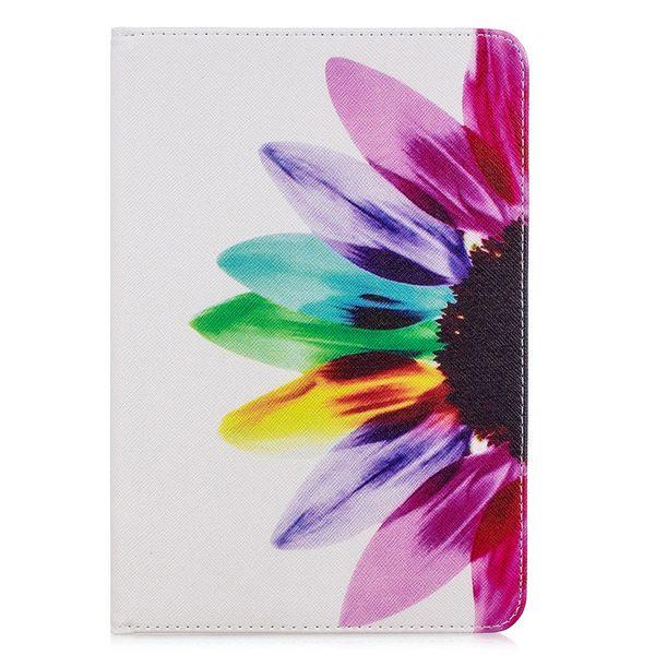 Flip tampa suporte para apple ipad mini 5 tablet case carteira de couro colorido desenho elefante panda para ipad mini 5