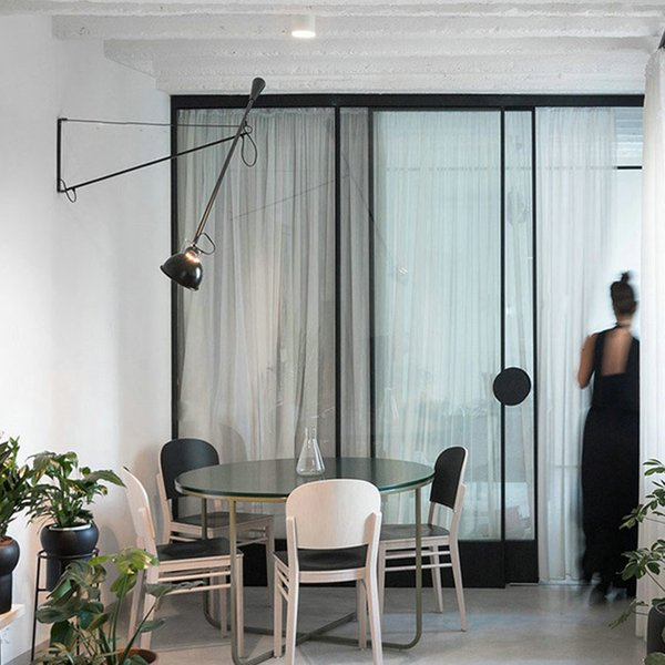 led wall lamp light Long swing arm lights for home adjustable modern industrial black sconce vintage E27 bedroom foyer