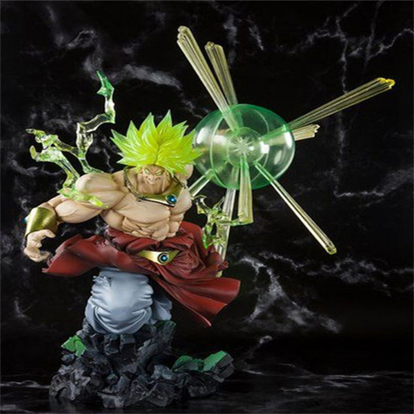 Anime Super Saiyan Dragon Ball Z Broly The Burnning Battles Ver. PVC Action Figure Collection Modello Toys 32cm