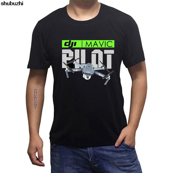 Fresco ocasional orgullo hombres de la camiseta unisex nueva moda sbz3171 camiseta Camiseta blanca Negro y Nueva DJI Mavic piloto negros de los hombres con aviones no tripulados