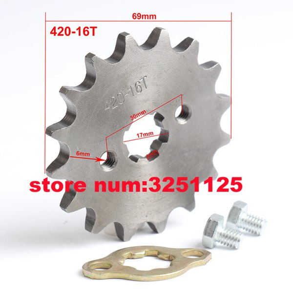 420 18Tooth 17mm Front Engine Sprocket For 50cc-160cc 17mm Shaft Pit Dirt Bike