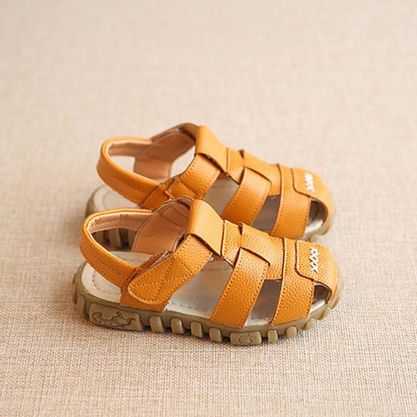 Acheter Nouveau Cuir Bébé Prewalker Chaussures Garçons Semelle Sandales Printemps D'été Véritable En Souple vynOm80Nw