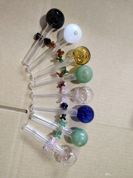 Farbige Blase Petal Glas direkten Brennen Topf Großhandel Glaswasserpfeife, Glas, Wasser, Rohrfittings, Rauchen, freies Verschiffen