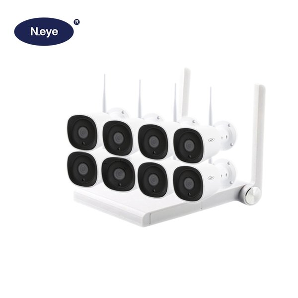 N_eye Professionelles drahtloses CCTV-Kamerasystem HD 1080P 8CH Wasserdichtes Home Security Video Surveillance Kit Outdoor 2MP