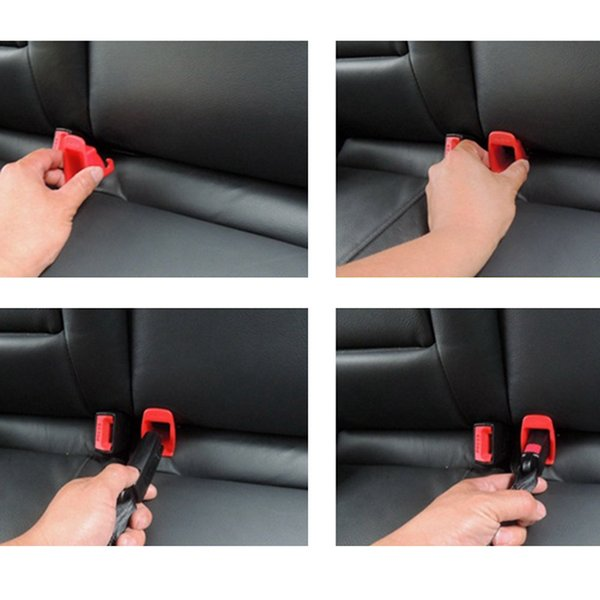 1 Pair Universal Car Fixed Guide Groove For Kids Baby Safety Seat Belt Auto Child Safe Buckle