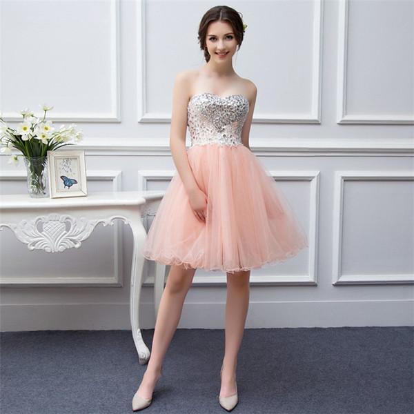 Compre Vestidos Formales Para El Octavo Grado Vestidos Para Fiesta De 15 Años 2019 Vestidos De Fiesta De Baile Baratos Vestidos Cortos Para