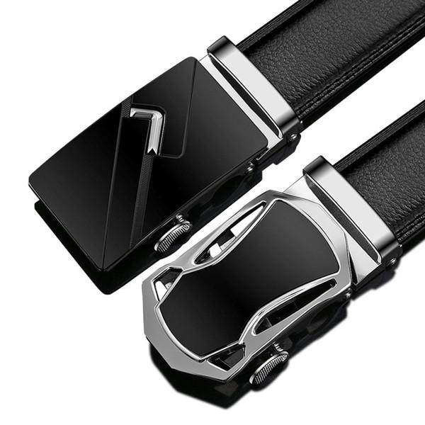 24 Tipo de Homens de Negócios Estilo Belt Designer de Couro Genuíno Masculino Cinto de Fivela Automática de Qualidade Superior Cinto Cintos Para Terno Calças